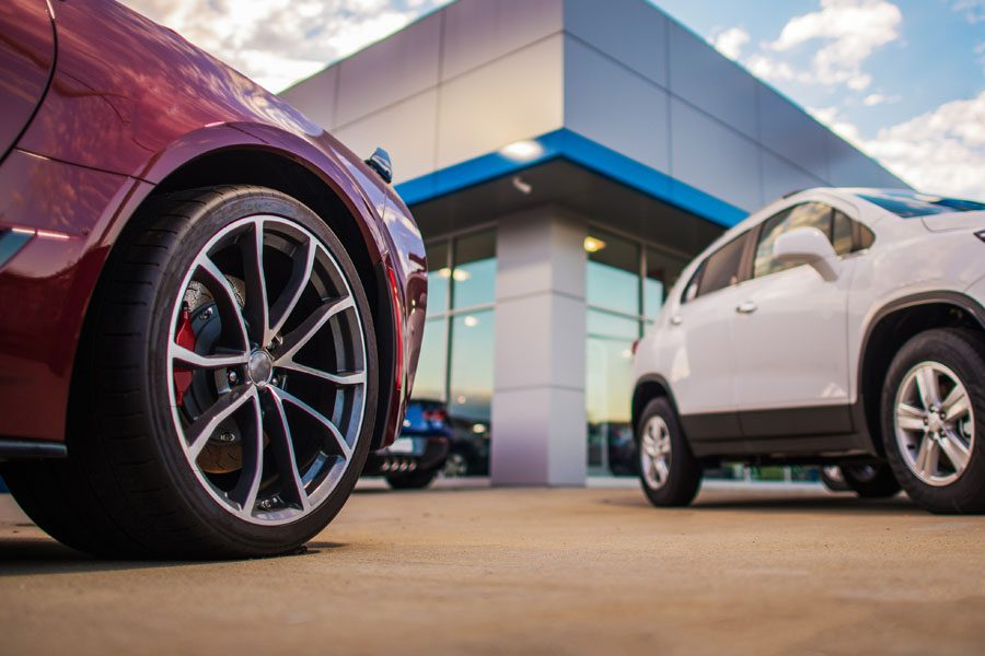 Dealership Insurance - Cars Outside of the Dealership Waiting to be Purchased