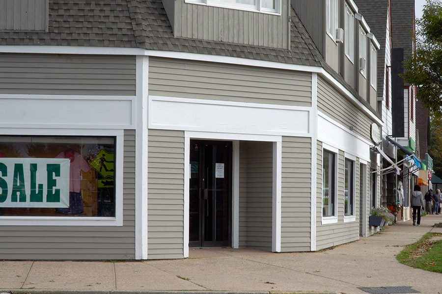 Commercial Property Insurance - Retail Clothing Storefront on a Main Street in Small Town