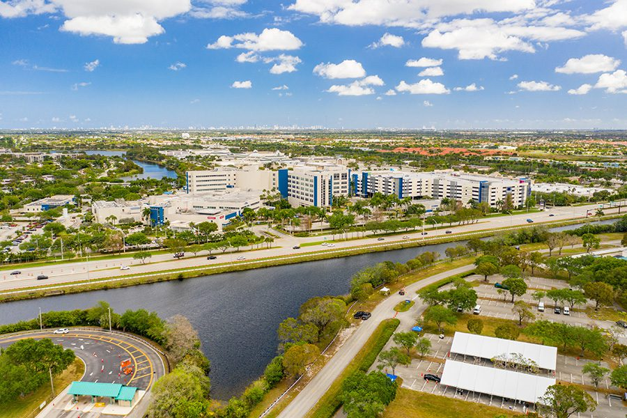 Contact - Aerial View of Pembroke, FL Communities and Surrounding Area on a Sunny Day