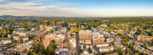 Morristown NJ - Aerial Cityscape View on a Bright Clear Day