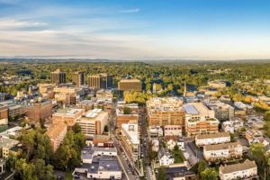 Morristown NJ Insurance - Aerial Cityscape View on a Bright Clear Day