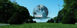 Queens NY Insurance - Green Park With Globe Sculpture Water Fountain