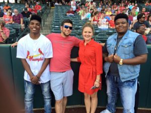 Employees at Memphis Redbirds Game
