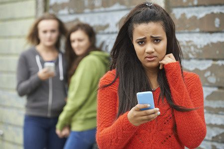 123rf stock image - cyber bullying