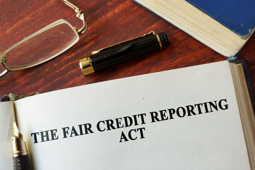 the fair credit reporting act fcra written on a page.