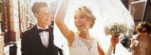 Wedding Insurance - Happy Young Couple Celebrating Their Marriage