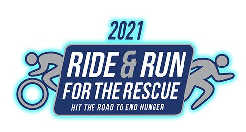 Support Ride & Run 2021 - 2021 Ride & Run for the Rescue Hit the Road To End Hunger Logo