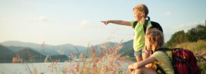 Header - Personal Insurance Children looking out into a Lake