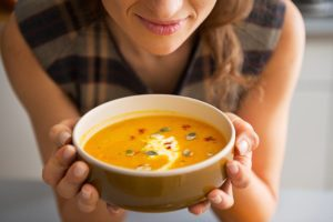 Woman-with-soup