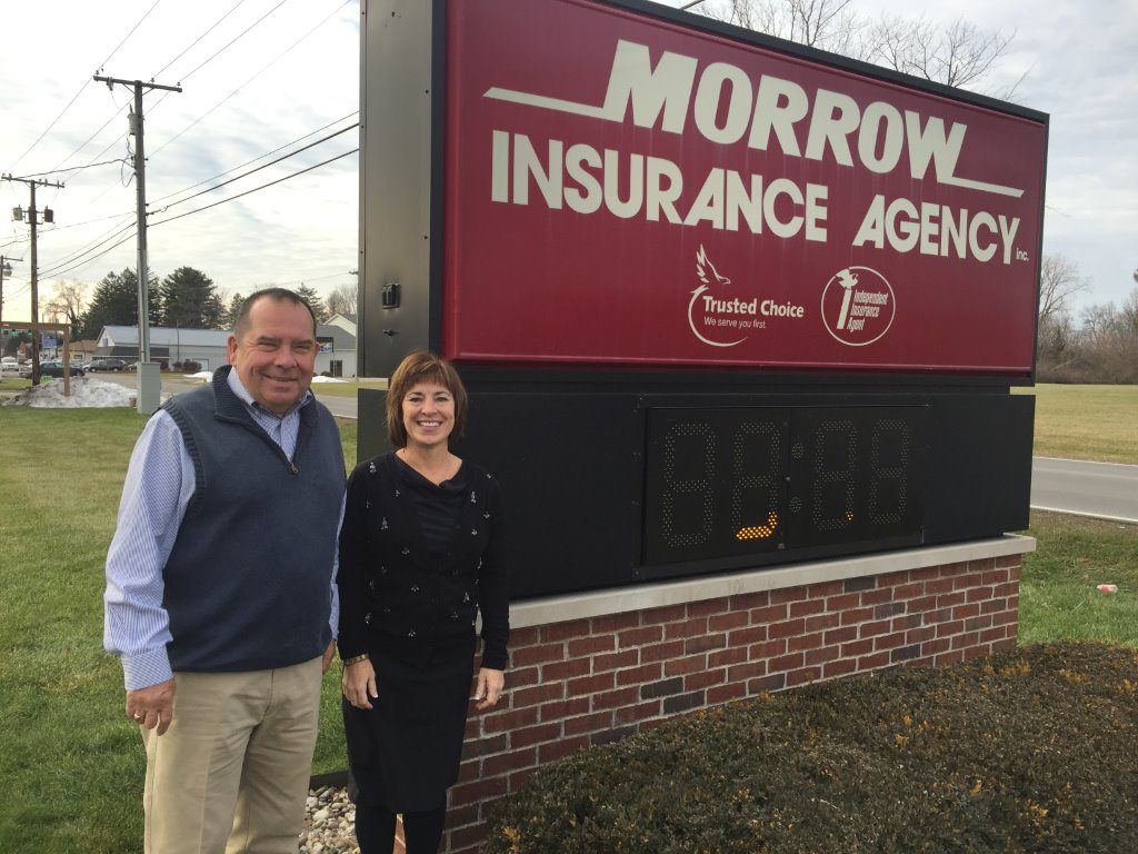 Morrow Insurance Outside by sign