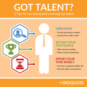 Graphic advising managers to hire and retain the right people