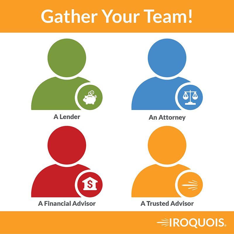 Who you need on your team when it comes to financing a merger or acquisition.