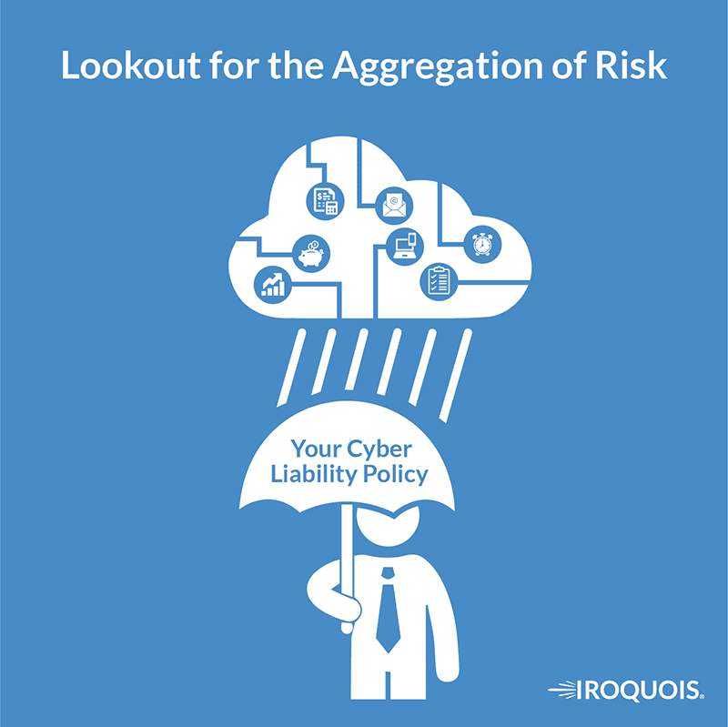 Cyber Liability graphic explaining the aggregation of risk.