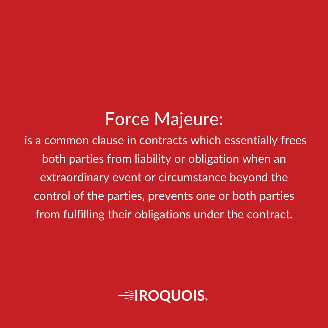 Force Majeure definition.