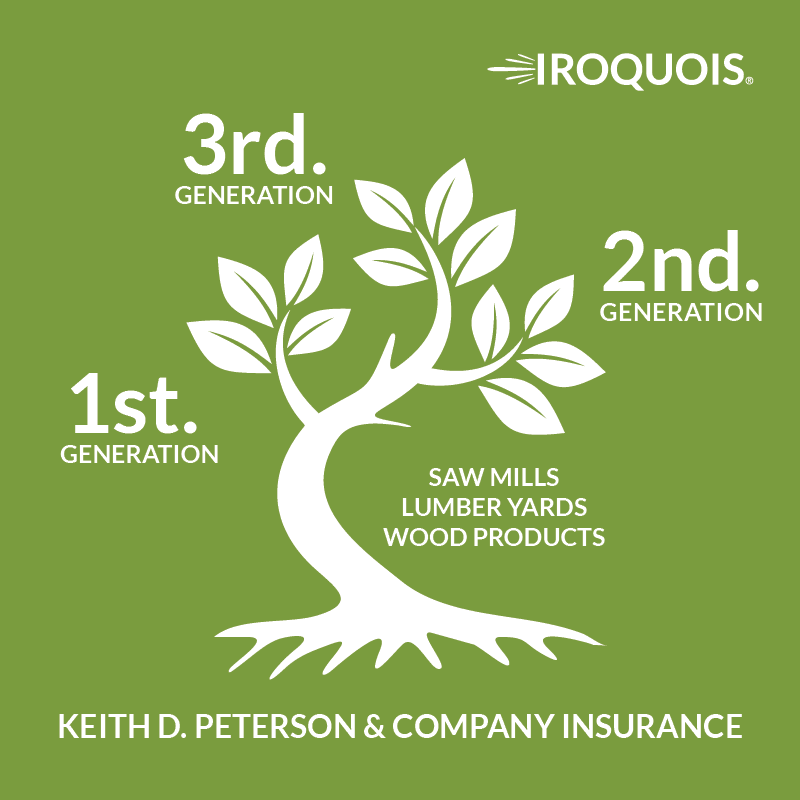 wood products from Keith D. Peterson Insurance