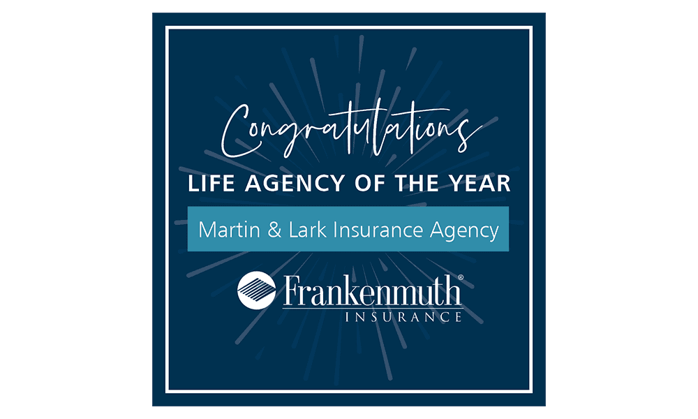 Martin & Lark Insurance Agency Earns Top Life Insurance Award-Life Agency of the Year Award Badge