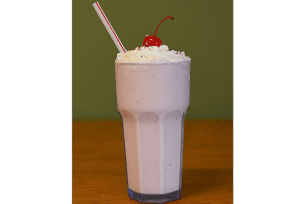 Our Business Partners - Bishops Restaurant Strawberry Milkshake with Whipped Cream on Top