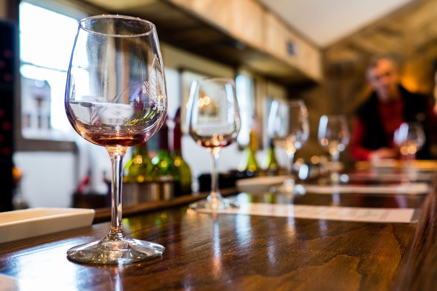 Winery Insurance - Group of Wine Glasses Being Displayed for a Tasting