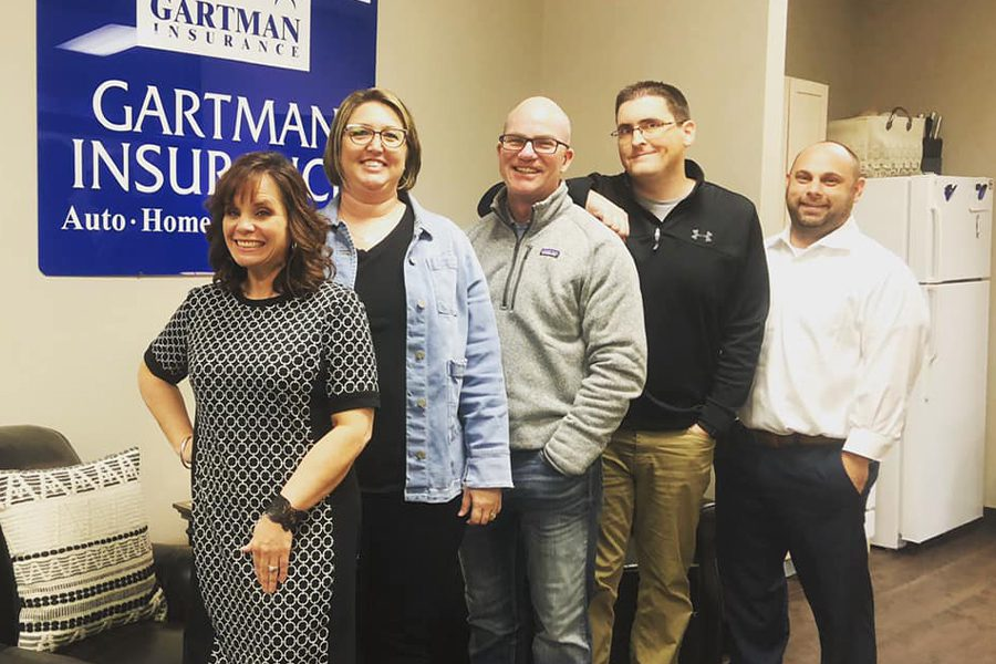 About Our Agency - Portrait of Gartman Insurance Agency Employees in the Office