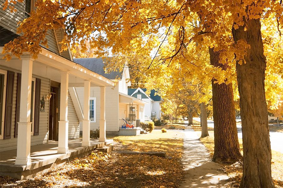 Indiana - Fall in the Small Town of Fortville, Indiana
