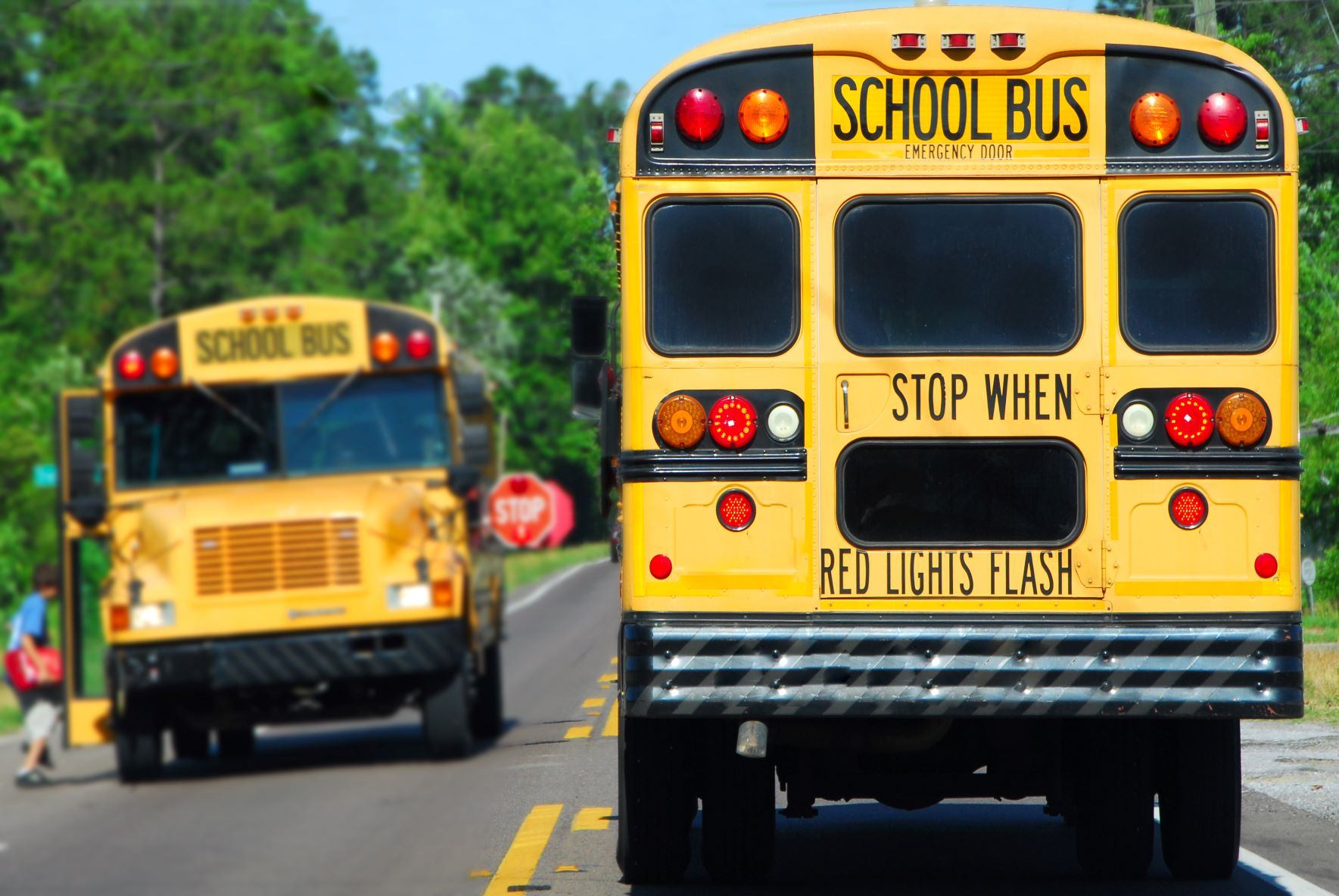 School Bus Stopped