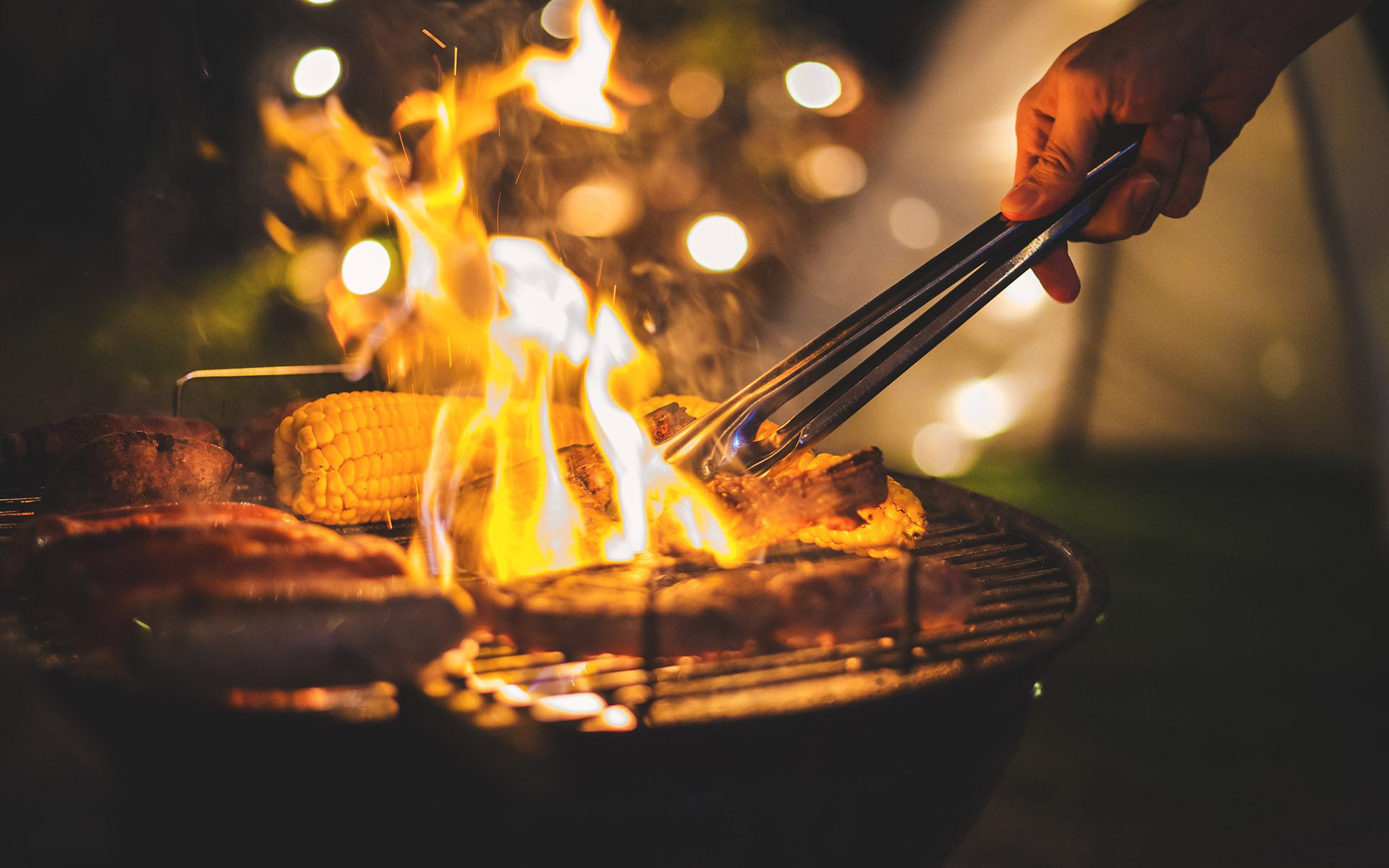 Great Grill Giveaway - Fire Flamed Food On A Grill At A Picnic