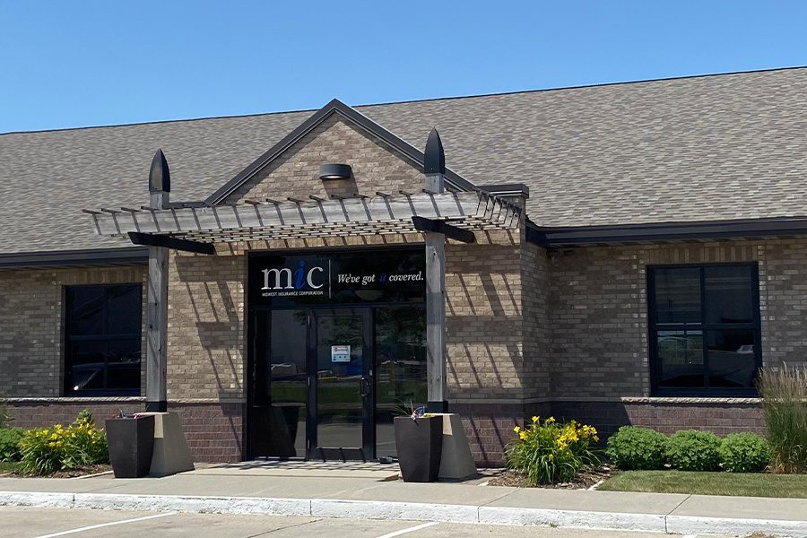 Contact - View of Midwest Insurance Office Building in Nevada Iowa