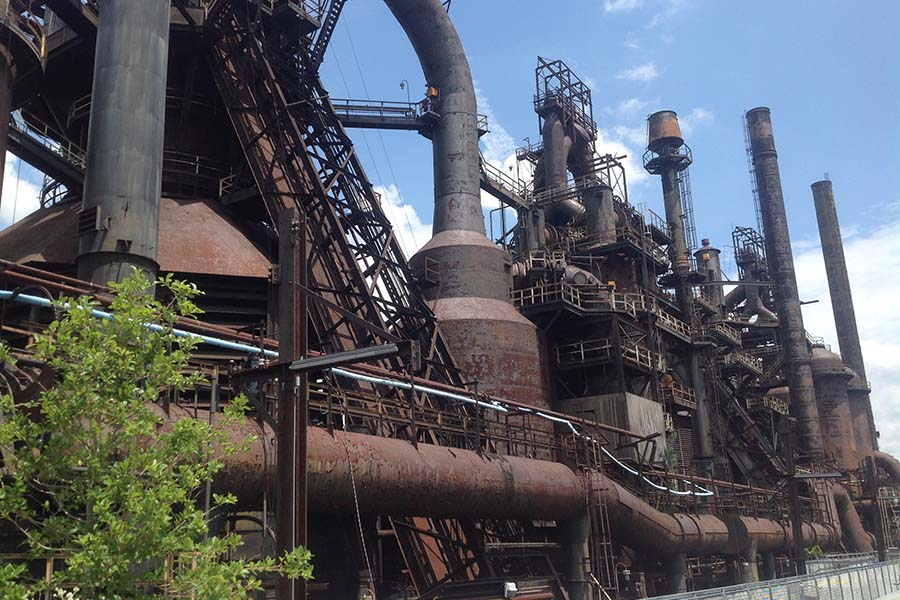 About Our Agency - View of Bethlehem Steel Stacks in Bethlehem Pennsylvania
