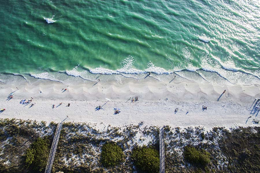 Florida - Aerial View of Treasure Island Beach in Florida