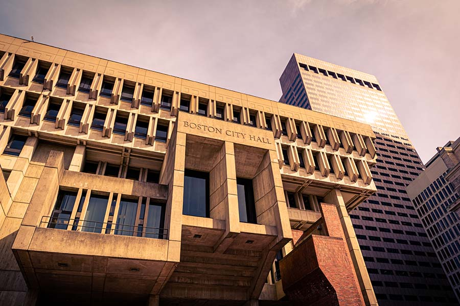 Specialized Business Insurance - Municipal City Hall Building in Boston Massachusetts