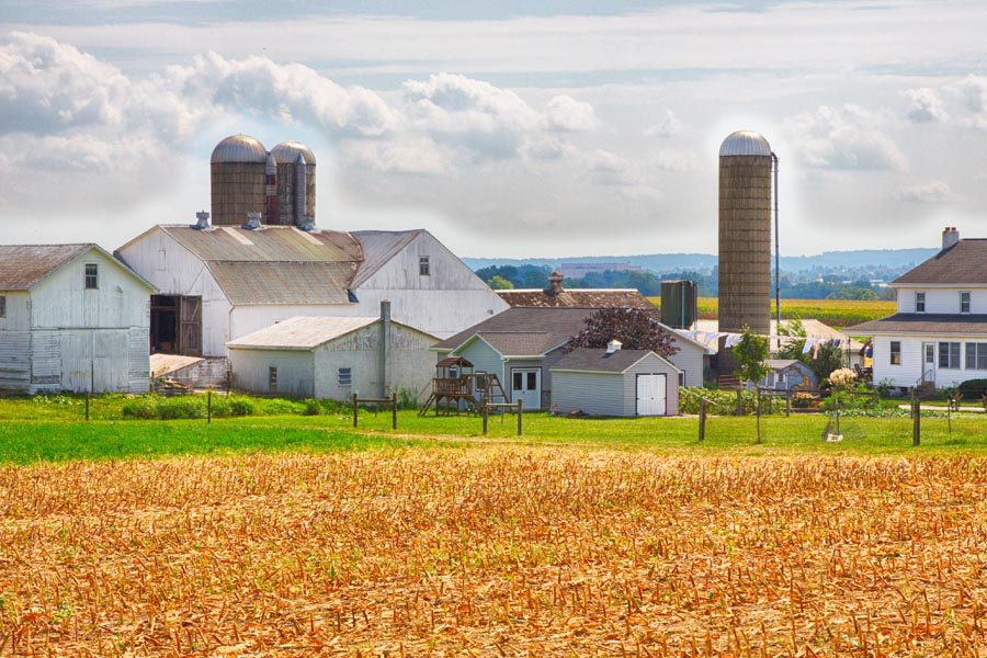 Central PA Insurance - Modern Farm With Bright Corn Overlooking Central PA