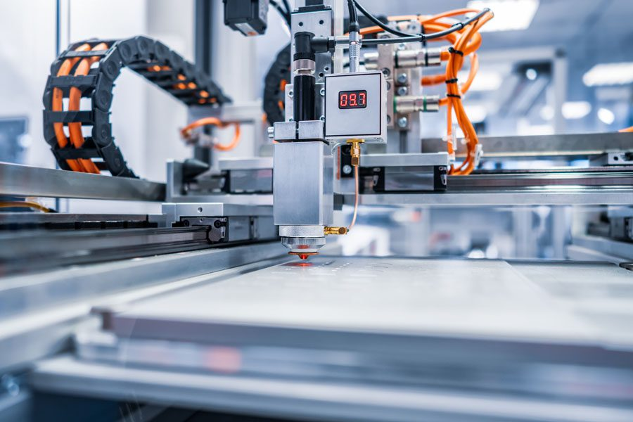 Systems Breakdown Insurance - Machinery Cutting Metal for a Project