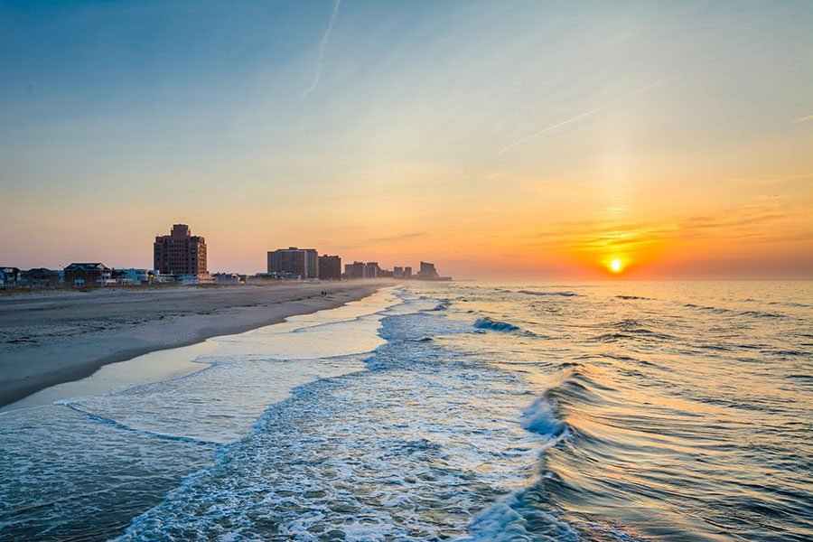 New Jersey Flood Insurance Quote - View of New Jersey Shore at Sunset