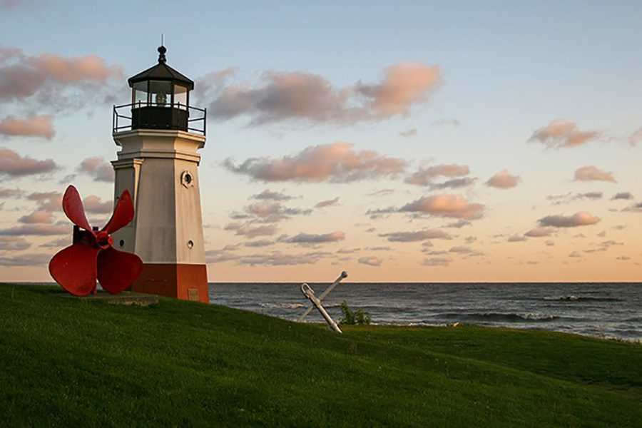 Client Center - View Of Lighthouse Along The Coast At Sunset In Amherst Ohio