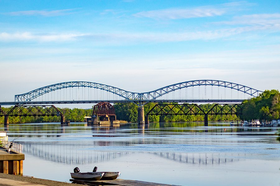 Middletown, CT - Scenic Landscape View of Arrigoni Bridge in Middletown, Connecticut