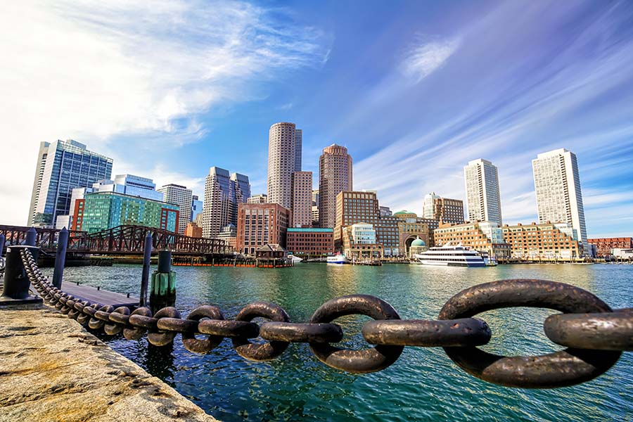 Locations - View Of Boston Harbor And City Skyline
