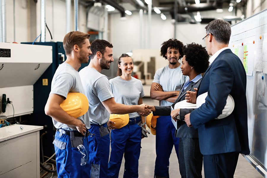 Safety Details and Information - Warehouse Managers Having Safety Meeting with Workers