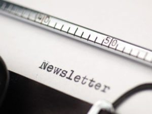 Newsletter-on-typewriter