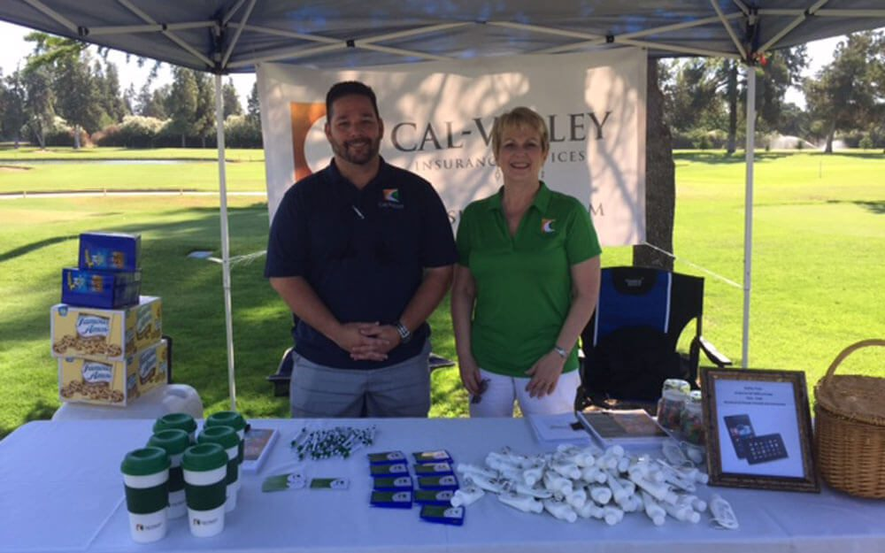 Mike and Donna at the 435 Golf Tournament