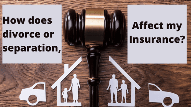 How does a separation affect insurance