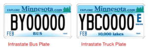 Minnesota Intrastate Bus and Truck Plate Image