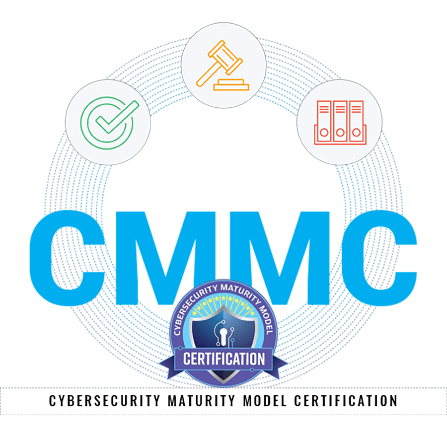Compliance GPS - CMMC Graphic with Cybersecurity Maturity Model Certification Badge