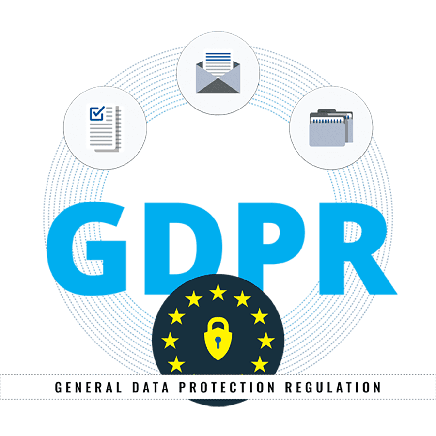 Compliance GPS - GDPR Graphic With Lock Protection Icon