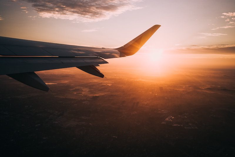 flying on a plane