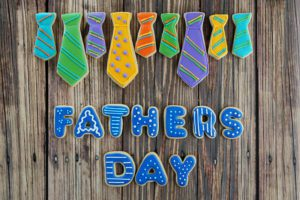 fathers day sign made out of cookies