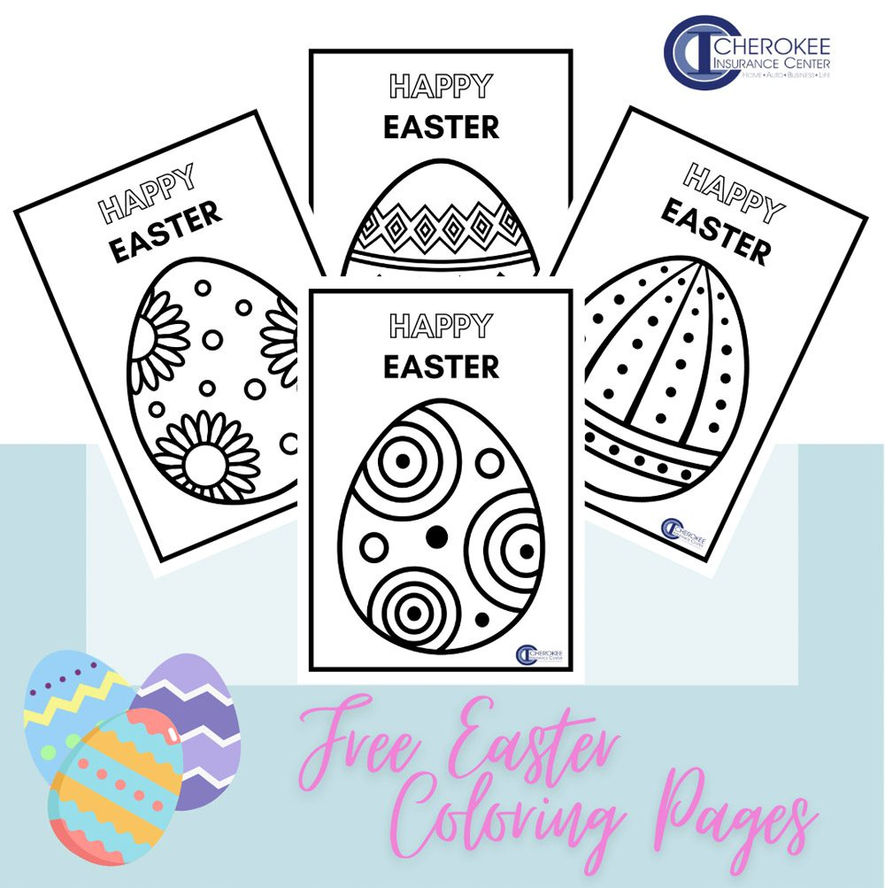 Blog - Printable Free Easter Egg Coloring Pages for Families to Download