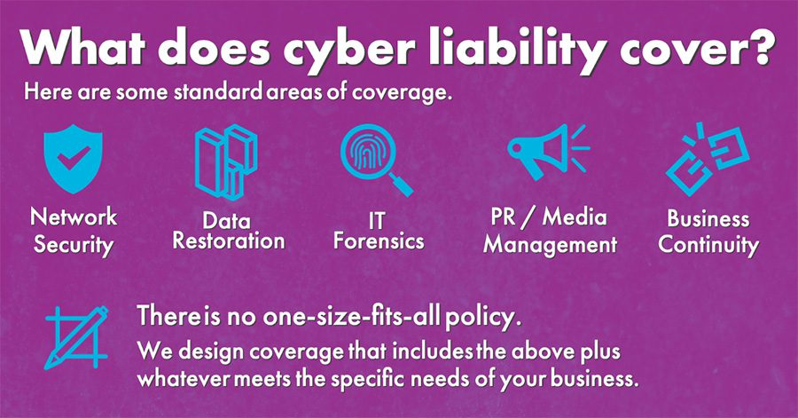 Cyber Security- Staying Cyber Secure - What Does Cyber Liability Cover Explanation Graphic