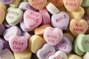 A Night-in Or A Night-out On Us - Valentines Day Conversation Hearts