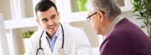 Header - Long Term Care Insurance Senior with Doctor