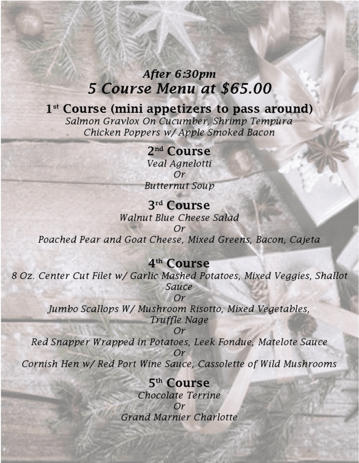 The Grill At Leon Springs Special Menu - Page 3